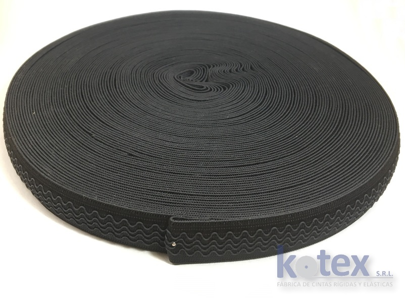elástico antideslizante 25mm goma negra