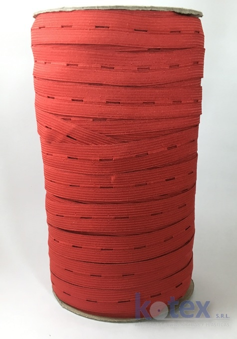 elastico 20mm ojal rojo